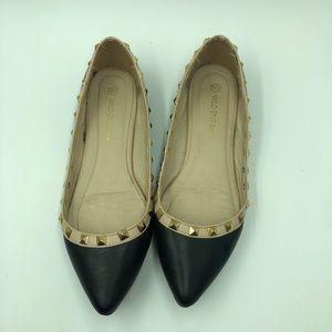 Wild Diva Louge black fat shoe size 6 1/2